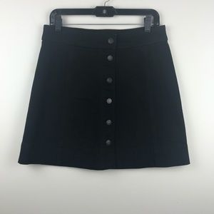 J Crew Mercantile Black Denim Button Front Skirt